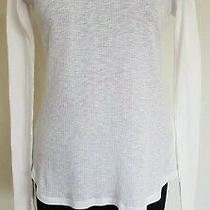 Ugg 'Georgia' Ribbed Long-Sleeve Lounge T-Shirt. Size Small. White/ivory Photo