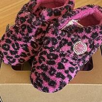 Ugg Girls 4/5 Pink Leopard Bixbee Slippers Photo