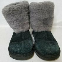 Ugg Girls Black Winter Boots Sz 2 Photo