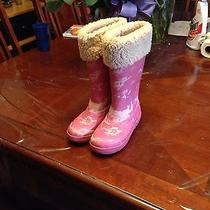 Ugg Girls Pink Boots Size 1 Gorgrous Photo