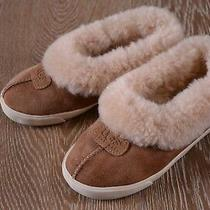 Ugg Girls Rylan Shearling Slippers in Chestnut Size Us 13 Euc Photo