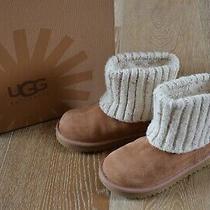 Ugg Girls Shea Chestnut Boots Size 11 Nib Photo