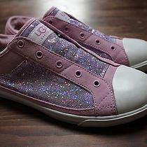 Ugg Girls Size 6 Laela Hologram 1001922 Rose Quartz Sneakers  Photo