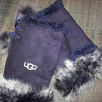 Ugg Gloves Fingerless Purple Photo