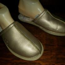Ugg Gold Leather  Coquette Slippers Women's Size 8 Photo