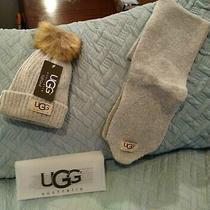 Ugg  Gray  Australia Hat Heavy Knit Scarf Set Nwt  Free Shipping Photo
