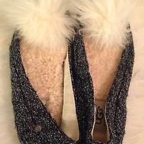 Ugg Gray Bedroom Slippers White Fur Photo