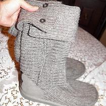 Ugg Gray Knit Boots 9 Photo