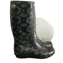 Ugg Green Paisley Rubber Rain Boots Womens Size 10 Pull on  Photo