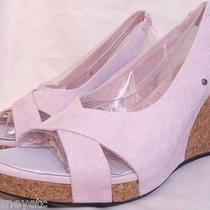 Ugg Hazel Wedge Sandals Suede New in Box Womens 10 English Rose/pink 1771 Photo