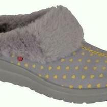 Ugg Heart Dreamsgraysuede Shearling Girl Mule Shoes Slipper Clogs Sz 3- 1-2new Photo