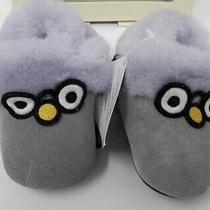 Ugg Infant Zippie Slip on Blue Owl Slippers Crib Shoes Size 0/1  0-6 Months Nwt Photo