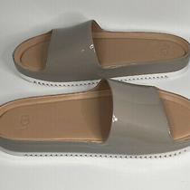 Ugg Jane Patent Oyster Comfort Slide Slip-on Sandals Slippers Size 7.5 Women Photo
