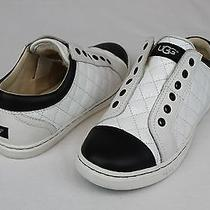 Ugg Jemma Quilted Patent Leather White Fashion Sneaker Tennis Shoe Size 8 Us Photo