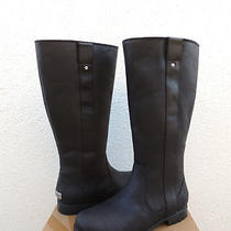 Ugg Junipero Tall  Black Waterproof Leather Boots Us 8/ Eur 39/ Uk 6.5 Nib Photo
