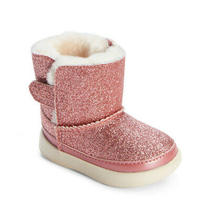 Ugg Keelan Infant Pink Glitter Shearling Boots  Size 0/1  0-6 Months  Nwt Nib Photo