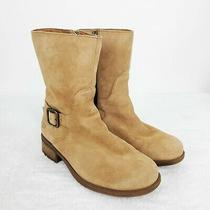 Ugg Keppler Womens Us Size 5.5 Tan Suede Leather Side Zip Lined Moto Boots Photo