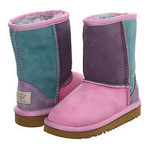 Ugg Kids Classic Patchwork  Girls Shoes   Rose Quartz Multi  6 Toddler  Nib Photo