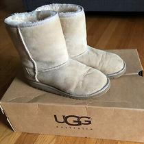 Ugg Kids Classic Short Boots 5251 Sand Youth Size 4 / Womens Size 6 Suede Photo