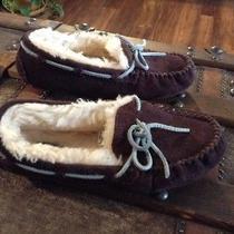 Ugg Kids Dakota Slippers Suede Wool Lining Hard Bottom Espresso S/n 5296 Size 3 Photo