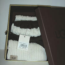 Ugg Kids Girls Knit Box Set Hat & Scarf New W/ Tag Brown/cream Other Sites 85 Photo