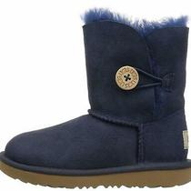 Ugg Kids T Bailey Button Ii Fashion Boot Navy Size 11.0 Ixby Photo