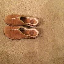 Ugg Kohala Brown Suede Sheepskin Lined Slip on Clogs Mules Sz 6 Photo