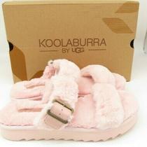 Ugg Koolaburra Furx Pale Blush Pink Fur Slipper Slide Sandals Women Size 8 / 39 Photo