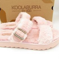 Ugg Koolaburra Furx Pale Blush Pink Fur Slipper Slide Sandals Women Size 9 / 40 Photo
