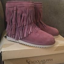 Ugg Koolaburra W Cable Pink Red Fringe Boots Booties Us 10 Brand New in Box Photo