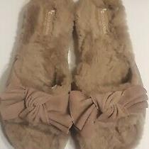 Ugg Koolaburra Women's Fur Bow Slide Slippers Light Brown  Nib Sz 9 Photo