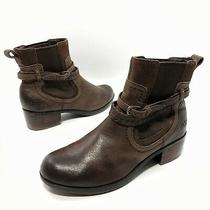 Ugg Krewe Brown Leather Shearling Ankle Booties 1004207 Women' 8 Eu39 Boots Photo