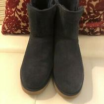 Ugg Kristin Boot Blue Suede Shearling Insole. Photo