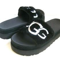 Ugg Laton Women Fur Slide Black Us 6 /uk 4 /eu 37 /jp 23 Photo