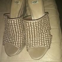 Ugg Leather Wedge Heel Size 6 1/2 No Reserve Photo