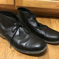 Ugg Leighton Men's Size 13 Black Ankle High Lace-Up Leather Chukka Boots- 3275 Photo