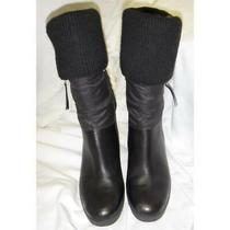 Ugg Leona Convertible Knee Calf Ankle Quilted Wedge Black Boots Sz Us7 Eu38 Photo