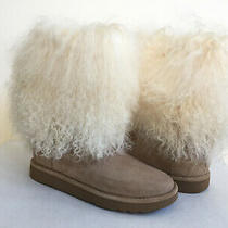 Ugg Lida Classic Mongolian Sheepskin Cuff Natural Boot Us 8 / Eu 39 / Uk 6.5 Photo