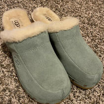 Ugg  Light Green Leather/suede Sheepskin Kalie Mule/clogs/slip on  Sn5426 Size 6 Photo