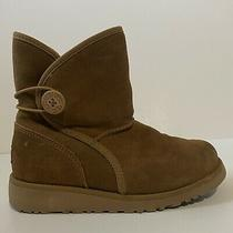 Ugg Little Girls Fabian Button Boot Tan Size Us 1/eu 31/uk 13 Preowned Photo