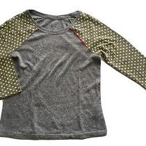 Ugg Long Sleeve Shirt Top Yellow Heart Fleece Gray Womens Small Photo