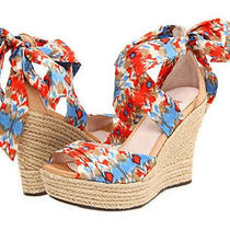 Ugg Lucianna Espadrille Wedge Platform Sandals Santorini Ikat Ankle Tie New 10 Photo
