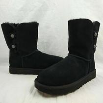 Ugg Marciela Ii Black Sheepskin Water-Resistant Winter Boots Women's Size 10 Us Photo