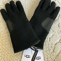 Ugg Men's Fabric and Leather Gloves Black Size Xl Nwt 85 Photo