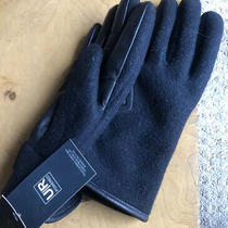 Ugg Men's Fabric Smart Gloves With Leather Trim Black Mens Size-M Photo