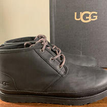 Ugg Mens Neumel Black Waterproof Leather Lace Up Ankle Boots 1017254 Size 13 Photo