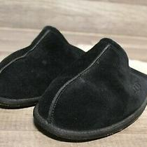Ugg Men's Scuff Slipper Salty Blue Suede Sz 12e2-248 Photo