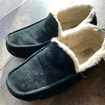 Ugg Mens Size 12 Alder Moccasin Driving Shoe Slipper Blackpre Owned Photo