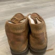 Ugg Mens Bosley Chukka Leather Shearling Shoes Boots Size 13 Chestnut 1012372 Photo