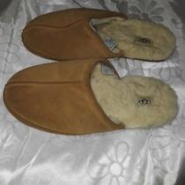 Ugg Mens Scuff Sheepskin Slippers Espresso Tan Size 11 Photo